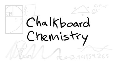 chalkboard chemistry still